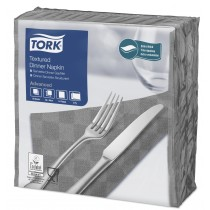 Tork Grey Textured Dinner Napkin 4 Fold 2ply 39cm