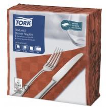 Tork Terracotta Textured Dinner Napkin 4 Fold 2ply 39cm