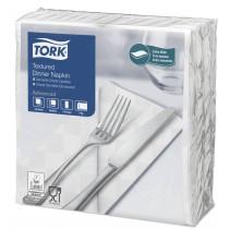 Tork White Textured Dinner Napkin 4 Fold 2ply 39cm