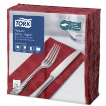 Tork Bordeaux Textured Dinner Napkin 8 Fold 2ply 39cm