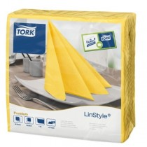 Tork Linstyle Dinner Napkin 4 Fold 39cm Passion Yellow
