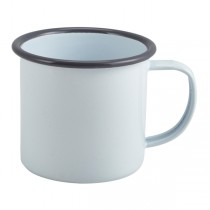 Enamel Mug White with Grey Rim 36cl 12.5oz