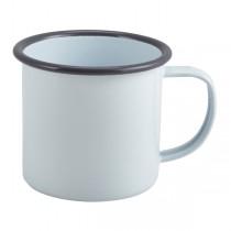 Enamel Mug White with Grey Rim 36cl 12.5oz