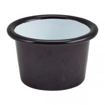 Enamel Ramekin Black 7 x 4.3cm