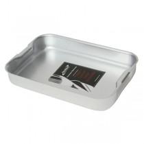 Genware Aluminium Baking Dish with Handles 37 x 26.5 x 7cm