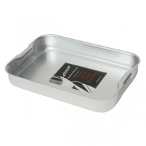 Genware Aluminium Baking Dish with Handles 31.5 x 21.5 x 5cm