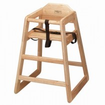 Wooden High Chair Natural