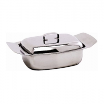 Stainless Steel Butter Dish & Lid