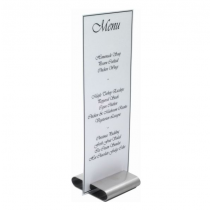 Stainless Steel Menu Card Holder 8 x 8cm
