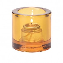 Amber Round Votive Candle Holders