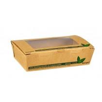 Compostable Kraft Salad Box with Window 500ml