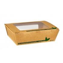 Compostable Kraft Salad Box with Window 900ml