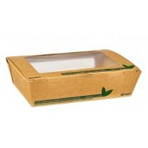 Compostable Kraft Salad Box with Window 1200ml
