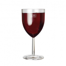 Plastico Clarity Polystyrene Wine Glasses LCE at 250ml
