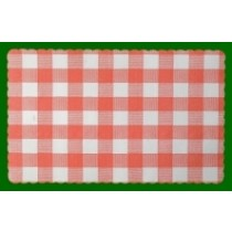 Paper Placemats Red Gingham 24 x 34cm