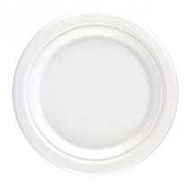 Bagasse Disposable 225mm Round Plate