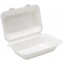 Bagasse Lunch Box 9 x 6inch