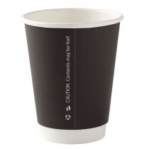 Black Disposable Double Wall Cups 8oz / 227ml