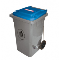 Araven Step On Bin with Wheels 80 Ltr Blue Lid