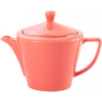 Porcelite Seasons Coral Conic Teapot 18oz / 50cl