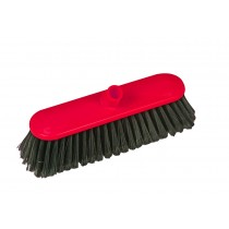Traditional Interchange Broom Head Soft Bristles Red