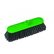 Traditional Interchange Broom Head Hard Bristles Green