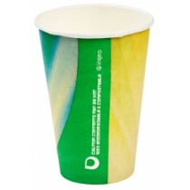 Compostable Tall PLA Prism Paper Vending Cup 9oz / 254ml