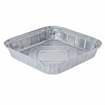 No 9 Shallow Aluminium Foil Food Containers 9 x 9inch