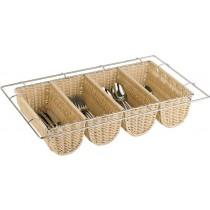 Poly Rattan Cutlery Basket 53 x 32.5cm