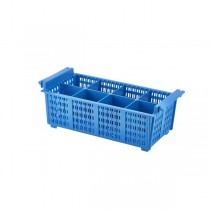 8 Compart Cutlery Basket Blue