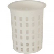 Plastic Cutlery Container White 100mm d x 135mm