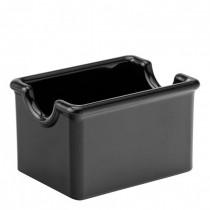 Black Melamine Sugar Caddy (9.5 x 7cm) 24 Pack