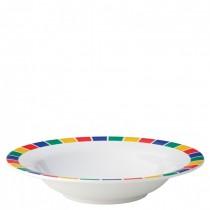 Carlisle Kingline Melamine Pasta Bowls Caribbean Block 19.5cm