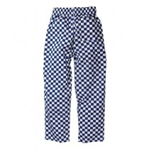 Chef Works Unisex Easyfit Chefs Trousers Big Blue Check