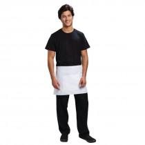 Uniform Works Short Bistro Apron with Pocket White