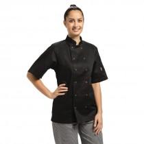 Whites Short Sleeve Black Vegas Chefs Jacket