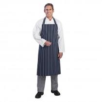 Whites Butchers Apron Stripe Blue