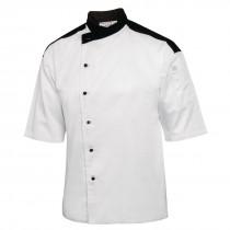 Chef Works Unisex Metz Chefs Jacket White with Black