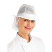 Trilby Hat with Snood White