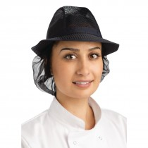 Trilby Hat with Snood Navy