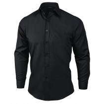 Food Service Uniforms - Men's Black Waiter Shirt
