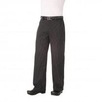 Chef Works Unisex Executive Chefs Trousers Black and Grey Stripe