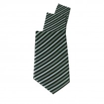 Chef Works Uniform Tie Grey Skinny Stripe