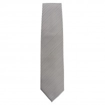 Chef Works Tie Fine Silver Stripe