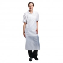 Light Duty Waterproof Bib Apron White