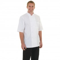 Chef Works Cool Vent Montreal Short Sleeve Chefs Jacket White