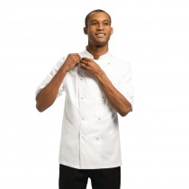 Capri White Egyptian Cotton Chefs Jacket