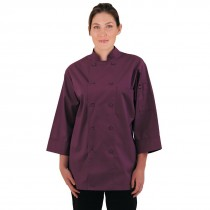 Colour by Chef Works Unisex Chefs Jacket Merlot