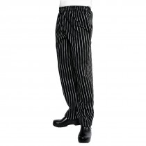 Chef Works Unisex Easyfit Chefs Trousers Black and White Striped
