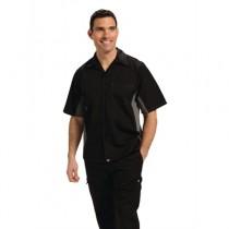 Black & Grey Coolvent Contrast Polycotton Chefs Shirt